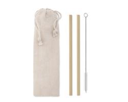 Sada bambusových brček HERR s čistícím kartáčkem - béžová