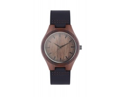 Analogové náramkové hodinky SALSA s koženým páskem - hnědá