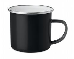 Kovový smaltovaný hrnek GORKI - černá