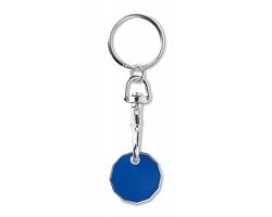 Kovový přívěsek AMPUL s žetonem do nákupního košíku - královská modrá