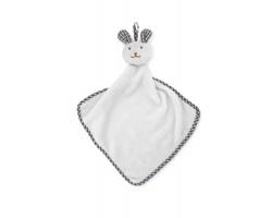Plyšový dětský ručník SLIMS s králíčkem - bílá