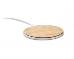 Bambusová bezdrátová nabíječka COILY - hnědá (dřevo)