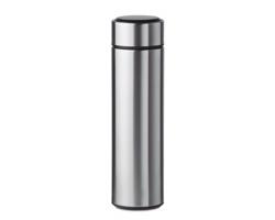 Nerezová termoska KYLA s dotykovým teploměrem, 450 ml - matně stříbrná