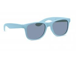 Plastové sluneční brýle BINS s bambusovým vláknem - baby modrá