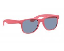 Plastové sluneční brýle BINS s bambusovým vláknem - červená