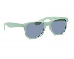 Plastové sluneční brýle BINS s bambusovým vláknem - zelená
