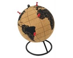 Korkový globus ASIDE na pracovní stůl - hnědá