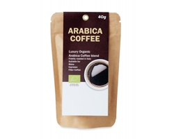 Mletá bio káva Arabica GOWNS, 40 g - béžová