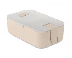 Ekologická obědová krabička WAVED z pšeničné slámy - šedá