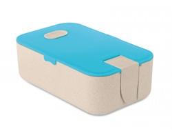 Ekologická obědová krabička WAVED z pšeničné slámy - tyrkysová