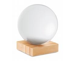 Křišťálová koule PEIRA s bambusovým stojánkem - transparentní