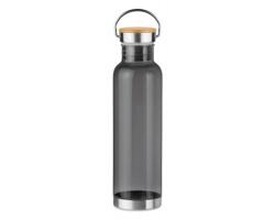 Tritanová lahev MAKO s kovovým madlem, 800 ml - transparentní šedá