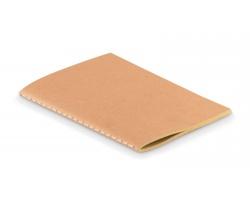 Nelinkovaný zápisník RUSHY s kartonovým přebalem, A6 - béžová
