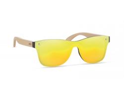 Sluneční brýle PEAL s bambusovými nožičkami - žlutá