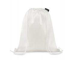 Ekologický stahovací batoh FOGY z PLA materiálu - bílá