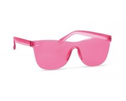 Plastové bezobroučkové sluneční brýle BLUSHFUL - transparentní červená