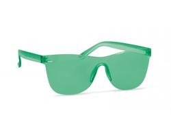 Plastové bezobroučkové sluneční brýle BLUSHFUL - transparentní zelená