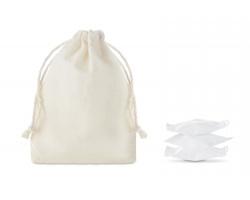 Lisované ručníky SEME v bavlněném sáčku - béžová