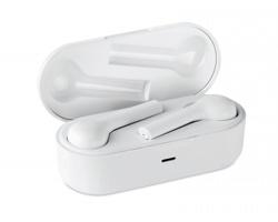 Bezdrátová sluchátka ALATE v nabíjecím pouzdru - bílá