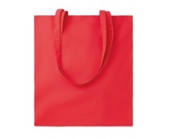 Bavlněná nákupní taška CISTS s dlouhými držadly - červená