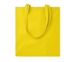 Bavlněná nákupní taška CISTS s dlouhými držadly - žlutá