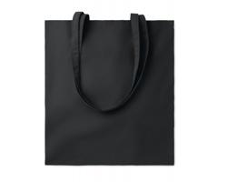Bavlněná nákupní taška CISTS s dlouhými držadly - černá