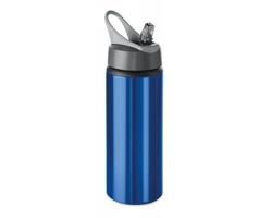 Hliníková lahev LAWS s výklopným pítkem, 600 ml - modrá