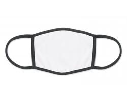 Látková rouška FLAP pro potisk sublimací - černá