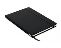 Linkovaný zápisník GALA s deskami z RPET, A5 - černá