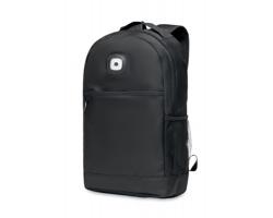 Městský batoh z RPET materiálu SHINER s COB světlem - černá