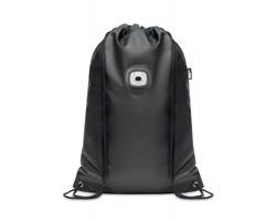 Stahovací batoh z RPET materiálu DEFOGG s COB svítilnou - černá