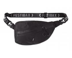 Značková festivalová ledvinka Festibax SCORE - černá