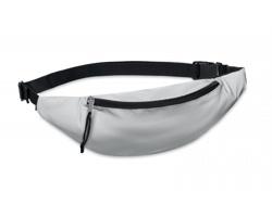 Polyesterová reflexní ledvinka QUINA - matně stříbrná