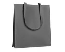 Bavlněná nákupní taška HOES se zpevněným dnem - šedá