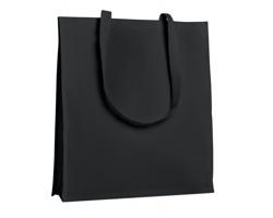 Bavlněná nákupní taška HOES se zpevněným dnem - černá
