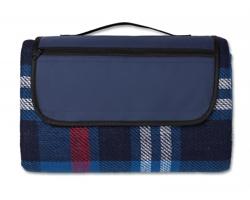 Akrylová skládací pikniková deka SONAR s nepromokavou úpravou - modrá