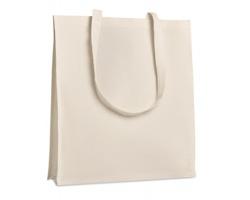 Keprová nákupní taška SKEG s dlouhými popruhy a vsadkou - béžová
