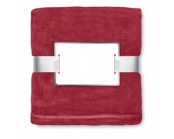 Fleecová deka NISEI s vysokou hřejivostí - bordó