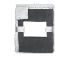 Fleecová deka PARIS s ovečkou - šedá