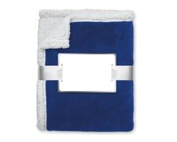 Fleecová deka PARIS s ovečkou - modrá