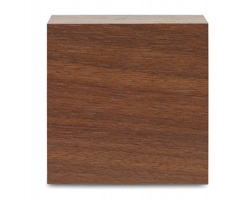 Dřevěné stolní hodiny SLUNG s funkcí budíku - hnědá (dřevo)