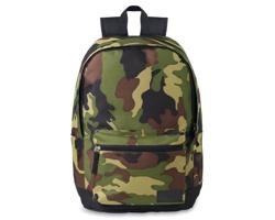 Polyesterový batoh MILDEWS s přední kapsou na zip - zelená