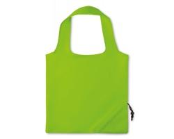 Polyesterová skládací nákupní taška SLAW se stahovacím pouzdrem - limetková