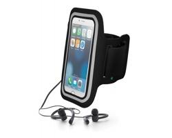 Neoprenové pouzdro na ruku MOOCHED se sportovními sluchátky - černá