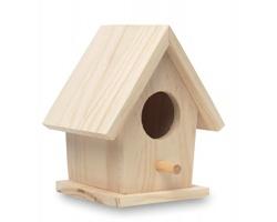 Dřevěná ptačí budka MILWOOD - béžová