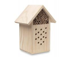 Dřevěný domeček pro hmyz SUNHOUSE - béžová