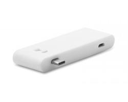 Plastový USB rozbočovač typu C CARPI pro 3 USB flash disky - bílá