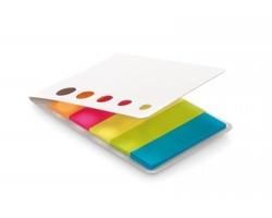 Sada barevných lepicích papírků AVENS v deskách s průhledy - bílá
