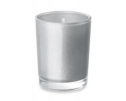 Aromatická vonná svíčka BLAH ve skleničce - matně stříbrná
