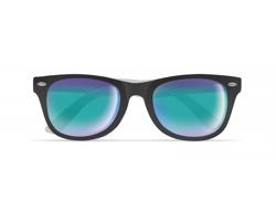 Plastové sluneční brýle SHOWN se zrcadlovými skly - bílá